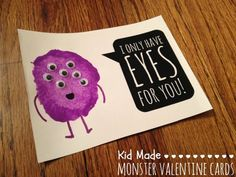Googley Eye Valentine - I Only Have Eyes For You Monster Valentine with a Free Printable