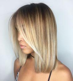 Blunt Caramel Blonde Bob For Straight Hair