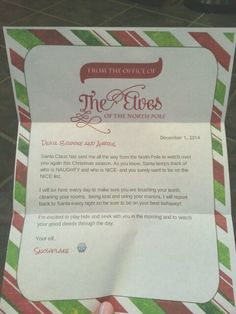 Sparkle has returned from the north pole she brought back a letter elf on the shelf is back letter spiritdancerdesigns Images