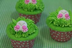 Look what's hopping down the bunny trail....Bunny Tail royal icing decorations...