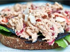 This Clean Eating Tuna Salad makes a wonderful lunchtime salad without any added chemicals or preservatives found in store bought tuna salad.