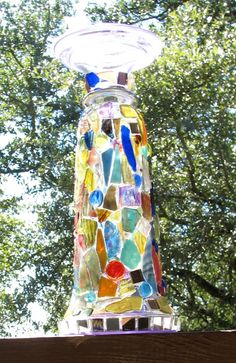 mosaic glass totem