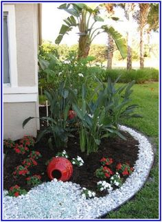cool Landscaping With Rock And Mulch