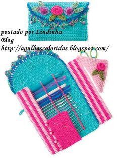 PAP PORTA AGULHAS DE CROCHE - Crochet Hook Case Pattern