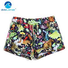 Gailang Brand Women Beach Board Shorts Sun Active Shorts Jogger Sweatpants Woman Quick Drying Boxer Trunks Shorts