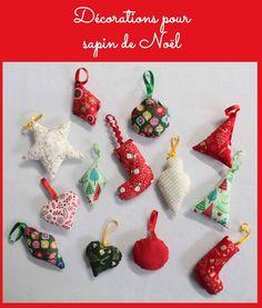 décoration en tissu pour sapin de Noël   Noel, Xmas and Felt ornaments