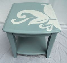 Painted table w/cool graphic