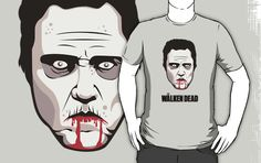 Christopher Walken - The Walken Dead Official T-Shirt by FacesOfAwesome