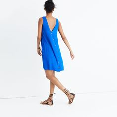 Lakeshore Button-Back Dress - also in Red - Madewell