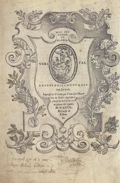 """""""Le présent livre est à moy"""", autographe dans un livre d'architecture Regole generali di architettura de Sebastiano Serlio, édition de 1521 - Bfm Limoges"""