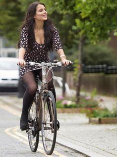 tights on a bike x