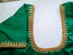 Blouse Best Blouse Designs, Simple Blouse Designs, Stylish Blouse Design, Blouse Neck Designs, Pattu Saree Blouse Designs, Choli Designs, Maggam Work Designs, Hand Work Blouse Design, Embroidery Neck Designs