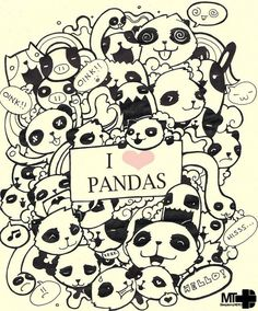 cute doodles to draw rock and roll doodle 27 1 love pandas 22 doodle 14 vanessa 4 summer 16 . Doodle Drawings, Doodle Art, Anime Chibi, Panda Drawing, Panda Party, Dibujos Cute, Kung Fu Panda, Cute Doodles, Cute Panda