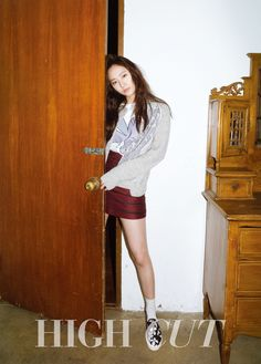 f(x) Krystal in High Cut Vol. 142 Look 1 Krystal Fx, Jessica & Krystal, High Cut Korea, Star Fashion, Girl Fashion, Kpop Fashion, Krystal Jung Fashion, 54 Kg, Kpop Outfits