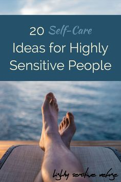 20 Self-Care Ideas for Highly Sensitive People Highly sensitive people process stimuli deeply, so they tend to need more self-care than others. Here are twenty self-care ideas that are perfect for a highly sensitive person. Highly Sensitive Person Traits, Sensitive People, Self Care Activities, Counseling Activities, Anxiety In Children, Feeling Stressed, Anxiety Relief, Stress Relief, Self Care Routine