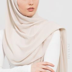 INAYAH | Ideal hijabs for updated styling - Oatmeal Soft Crepe Hijab www.inayah.co