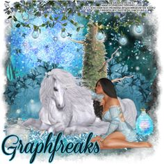"CT Tags and Snags for Graphfreaks with her new tube ""Enchanted Meadow 2"" Beautiful fantasy tube by Graphfreaks called  ""Enchanted Meadow 2"" PTU sweet maiden with her gorgeous unicorn, matching kit by GinniBug Creations by the same name, PTU with 5 elements and 10 papers,both available in store now only at  Scraps & Company  for more information and links of where to get them both http://graphfreaks.blogspot.com/search/label/QTags%20by%20Suzie%20Q"