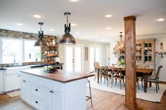 Fixer Upper: Country Style in a Very Small Town | HGTV - love the light fixtures