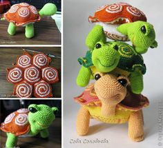 Crochet Turtles Free Pattern