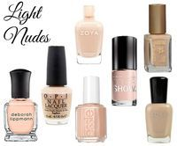 Nude nail polish for light/pale skin tones
