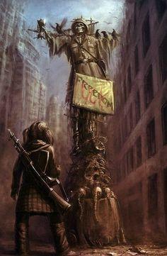 Apocalypse Uprising Use of iconic landmarks Apocalypse World, Apocalypse Art, Apocalypse Survival, Apocalypse Landscape, Fallout, Cyberpunk, Post Apocalyptic Art, Mad Max, Zombies