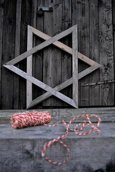 I've always loved Stars of David. My Daddy's name is David and we have Jewish heritage. Christmas Holidays, Christmas Crafts, Xmas, Wood Yard Art, Wooden Stars, A Star Is Born, Star Of David, Baby Things, Fun Things