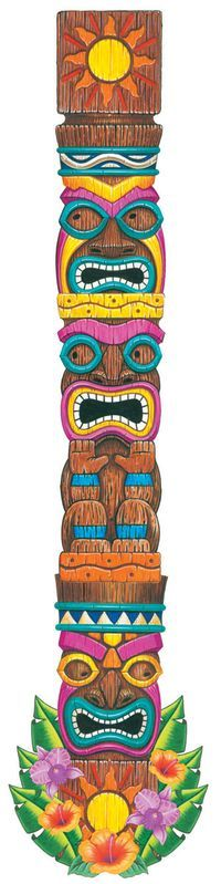 Tiki cutout totem pole - Perth Novelty Company: