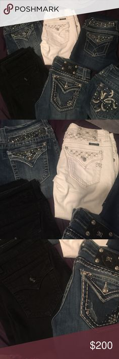 Miss me jeans Boot cut all are size 27 except the black are 29 but run really small! Miss Me Jeans Boot Cut
