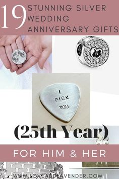 19 Stunning Silver Wedding Anniversary Gifts (25th Year) for Him & Her | anniversary gifts | anniversary gifts for him | anniversary gifts for her | gift ideas | gifts | 25 Wedding Anniversary Gifts, Anniversary Gift For Her, Gifts For Him, Gifts For Women, Traditional Wedding, How To Memorize Things, King, Gift Ideas, Boyfriend Gift Ideas