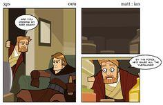 Web Comic: Three Panel Soul: Anakin's Killed All The Yuenglings!