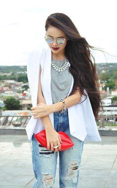 Zebra Trash - Clara Campelo: Look: Blazer Capa