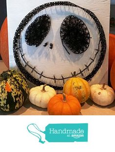 Nightmare Before Christmas Jack Skellington String Art Sign, Made to Order from Ruby Owl Designs http://www.amazon.com/dp/B0168DK1K6/ref=hnd_sw_r_pi_dp_X-umwb1F1PPBG #handmadeatamazon
