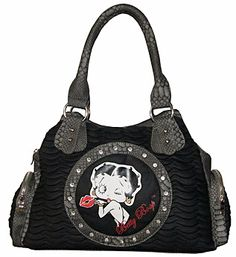Handbag Betty Boop Hobo Black. So want!