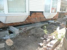 I beams rigged to lift a house Flood Mitigation, Basement Repair, House Lift, I Beam, Patio, Outdoor Decor, Home Decor, Decoration Home, Terrace