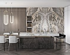 """TOL'KO / """"OKO"""" Luxurious apartment at Moscow city - TOL'KO / """"OKO"""" Luxurious apartment at Moscow city on Behance Source by taqalqayed Luxury Homes Interior, Luxury Home Decor, Luxury Apartments, Interior Architecture, Modern Kitchen Design, Interior Design Kitchen, Modern Interior Design, Room Interior, Layout Design"""
