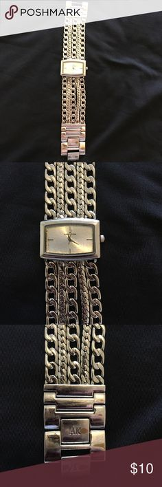 Anne Klein Watch Beautiful chain watch. Has some wear and tear. Has dark brown stains. Anne Klein Accessories Watches