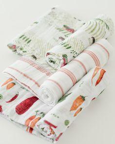 Little Unicorn Cotton Muslin Swaddle 3 Pack - Farmers Market Muslin Blankets, Muslin Swaddle Blanket, Baby Swaddle, Baby Blankets, Baby Poses, Cool Baby Stuff, Kid Stuff, Baby Boutique, Girl Nursery