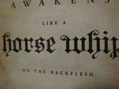 Horse Whip book cover #old Gothic kind of font