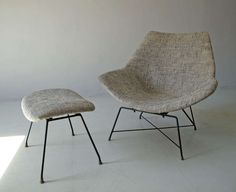 Rare Italian Mid-Century Modern Augusto Bozzi Cosmos Lounge Chair, 1955 image 4