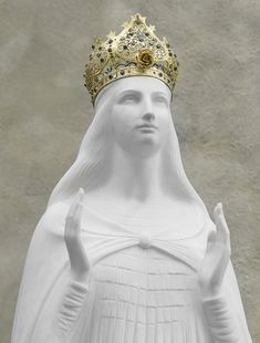 Statue of Our Lady at Knock Shrine in Ireland. Mother Mary appeared at Knock in 1879.