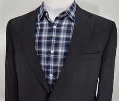 NEW EDDIE BAUER mens wool HOUNDS TOOTH 2 button sport coat blazer ...