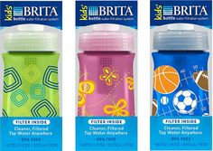 The Brita (sponsors of this post) Bottle for kids filters water on the go.