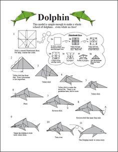 origami delfin paso a paso - Buscar con Google