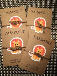 Passport to the jungle birthday invitation by KreativeKonceptsByKB