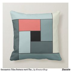 Geometric Tiles, Made Goods, Tile Patterns, Custom Pillows, Best Gifts, Gift Ideas, Throw Pillows, Make It Yourself, Knitting