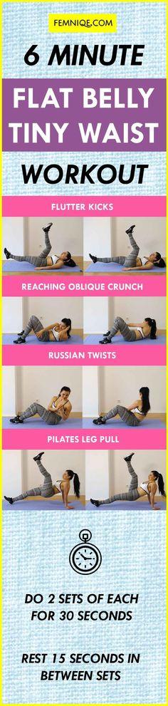6-Min-Abs-Workout-Get-A-Smaller-Waist-&-Flat-Belly Chart https://www.musclesaurus.com/flat-stomach-exercises/
