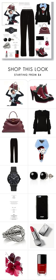 """Trendy look"" by rousou ❤ liked on Polyvore featuring Fendi, Belk & Co., StyleNanda, Givenchy, Bottega Veneta, Burberry, Valentino and Chanel"