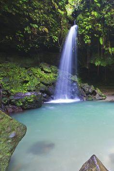 Beautiful waterfall. #Dominica #travelideas #placestogo #placestovisit #vacationideas www.haisitu.ro