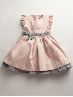 Girls Pink Jacquard Dress at Mamas & Papas Little Dresses, Little Girl Dresses, Cute Dresses, Girls Dresses, Baby Kind, My Baby Girl, Child Baby, Baby Baby, Outfits Casual