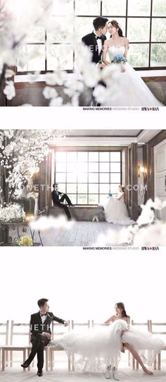 Korea wedding photography - HWA-RAN - Glam, Cherry blossom, Indoor Engagement Decorations, Wedding Decorations, Wedding Ideas, Wedding Photography Inspiration, Engagement Photography, Korean Photoshoot, Pre Wedding Photoshoot, Wedding Memorial, Real Couples